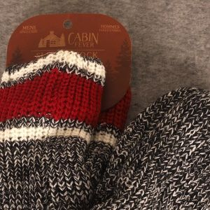 Other - Slipper socks! Grey with Red- o/s NWT